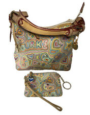 Dooney & Bourke Vintage White Pop Novelty Lucy Hobo Bag with Wristlet