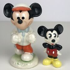 Mickey Mouse Disney Goebel Runner/Jogger Figurine 1984 W Germany +Mexico Ceramic