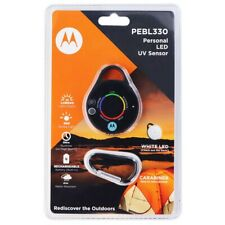 Motorola PEBL330 Personal LED UV Sensor with Carabiner—BRAND NEW