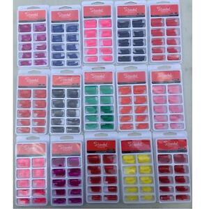 3 packs of 100 false nail tips 3 shades wholesale  clearance manicure new uk