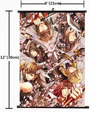 HOT Anime Hakuouki Shinsengumi Kitan Wall Poster Scroll Home Decor Cosplay 1279