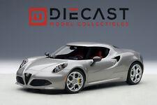 AUTOART 70187 ALFA ROMEO 4C, METALLIC GREY 1:18TH SCALE