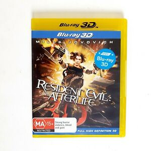 Resident Evil Afterlife Movie 3D Bluray Movie - Free Postage Blu-ray - Action