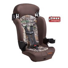 Convertible Safety Car Seat 2 in1 Toddler Booster Kid Travel Highback Camo Brown