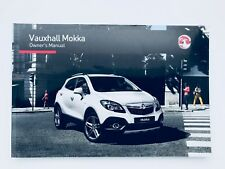 Vauxhall MOKKA Owners handbook Manual From 2013