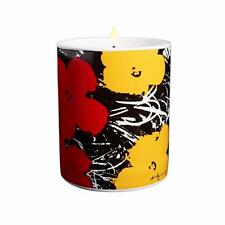 Andy Warhol Flower Red Yellow Scented Candle 5 oz - 40 Hour Burn Time