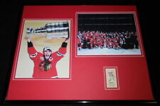 Jonathan Toews Signed Framed 16x20 Photo Display Blackhawks Stanley Cup