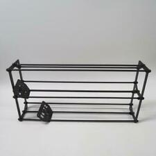 Boltz Black Wrought Iron VTG 2 Tier CD Stand