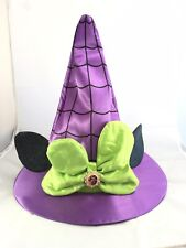 Disney Parks Minnie Mouse Not So Scary Halloween Witch Ears Youth Hat Spider Web