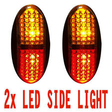 2x Amber/Red 4 LED Car Truck Trailer RV Side Clearance Lamp Marker Light 12V 24V