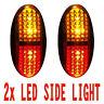 2x Amber/Red 4 LED Car Truck Trailer RV Side Clearance Lamp Marker Light 12V 24V