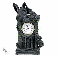 Duelling Dragons Mantle Clock 24cm Gothic Nemesis Now