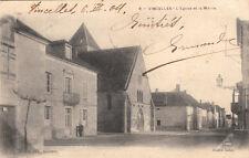 VINCELLES 8 l'église et la mairie éd toulot clich botex timbrée 1904