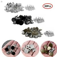 30PCS 17mm Jeans Replacement Buttons Metal with Press Rivets for Overalls Bags