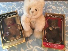 Gotta Gotta Gund 1989 1990 Lot Three 3 Collectible Gund Bears