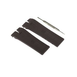 26mm Black Silicone Watch Strap Band Fits For Roger Dubuis ExcaliburEX45 W/ Tool
