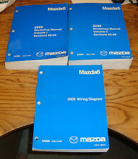 Original 2009 Mazda Mazda6 Shop Service Manual Vol 1 2 + Wiring Diagram Set