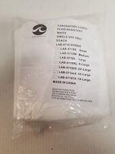 5 PK- White Laboratory Lab Coats Fluid Resistant LAB-5710M Small Single Use NEW