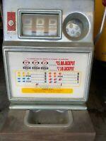 VINTAGE 5 CENT SLOT MACHINE $15 JACKPOT ANTIQUE