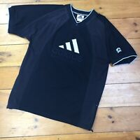 Vintage 90s Adidas Basketball Black Embroidered Spellout T-shirt - Size Small