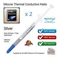2 x Silver Thermal Heatsink Grease for AMD Phenom X4 1.8GHz HD960BWCJ4BGH CPU