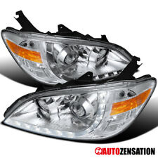 For 2004-2005 Honda Civic 2/4Dr R8 LED DRL Clear Lens Projector Headlights Lamps