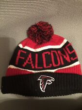 56a86e25bed NFL Atlanta Falcons Knit Hat On Field Sideline Beanie Stocking Cap With Pom