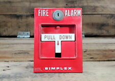 Simplex: Fire Alarm Pull Station Box - Red Single Action | NO KEY
