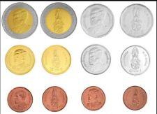 THAILAND SET 6 COINS 25 50 SATANG 1 2 5 10 BAHT BIMETALIC NEW K. RAMA X 2018 UNC