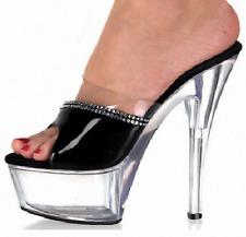 Ladies Sexy Platform Sandals Slippers Nightclub Rhinestone Peep Toes 15CM Heels