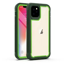 For iPhone 11,11 Pro Max Rugged Clear Back Case With Camera Lens Protector Cover