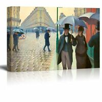 "Paris Street; Rainy Day by Gustave Caillebotte - Canvas Wall Art - 24"" x 36"""