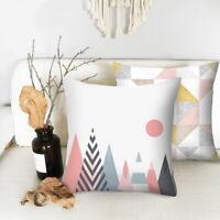Geometric Pattern Cushion Cover Pillowcase For Home Sofa Decorative 45x45cm HL