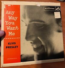 "ELVIS PRESLEY ~ ""ANY WAY YOU WANT ME"" ~ EPA-965 ~ ORANGE LABEL ~ MEGA RARE"