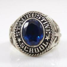 Vintage Sterling Silver 1975 St. Augustine Topaz School Class Ring Size 7 LFB4