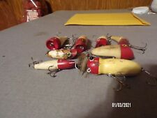 New listing 8 vintage red and white lures tony accetta jigolet pluse more