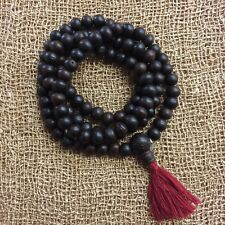 "Authentic Tibetan Buddhist BODHI SEED Prayer Mala Rosary Necklace  38"" 9mm  #1"