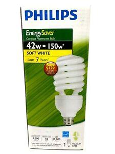 Philips Energysaver 42w=150w Soft White Compact Fluorescent Bulb