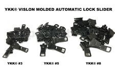 DEAL OF THE DAY YKK® #3, #5 OR # 8 Vislon Molded Slider Automatic Lock made USA