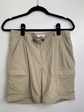 REI Co-op Relaxed Nylon Hike Camp Pants Shorts Women's 6 Khaki Tan