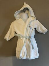 """Baby Boy Hooded Bathing Robe size 9-12 months """"Baby Harvest Brand"""""""