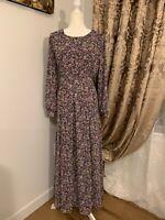 Women's Long Sleeve Casual Maxi Dubai Abaya Dress Sz M| L| XL| XXL