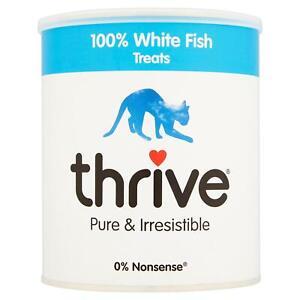 thrive Cat 100% White Fish Treats MaxiTube 110g - Real Natural Freeze Dried Fish