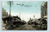 New Iberia, LA - EARLY 1900s MAIN STREET SCENE - CU WILLIAMS PHOTOETTE POSTCARD