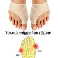 1Pair Toe Aligner Splint Straightener Corrector Foot Pain Relief