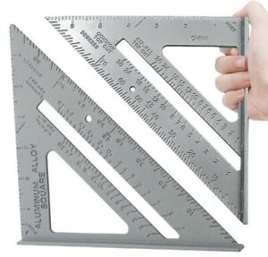 7'' Aluminium Alloy Roofing Rafter Square Triangle Angle Guide Marksman 55018C
