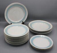 Rudolph Lux Gilder & Painter New Orleans Set of Blue & Gold Porcelain Plates