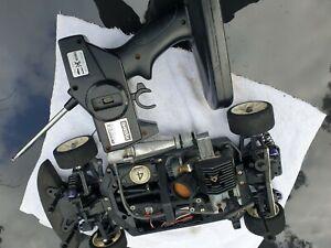 Kyosho Fazer Nitro 1/10 Rc Car Vintage Pureten GP perfex transmitter GZ15 engine
