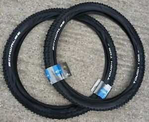 "TYRES Schwalbe 26x2.25 Tough Tom Pair MTB Mountain Bike Cycle  Tyres 26"""