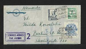 SPAIN CANARY ISLANDS ISSUES AIR MAIL COVER 1937